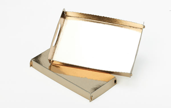 Gold/Gold trays
