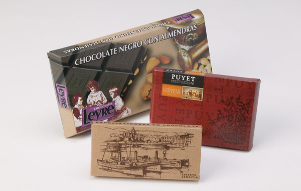Flat boxes of chocolate