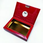 Chocolates lid double frame with glued line