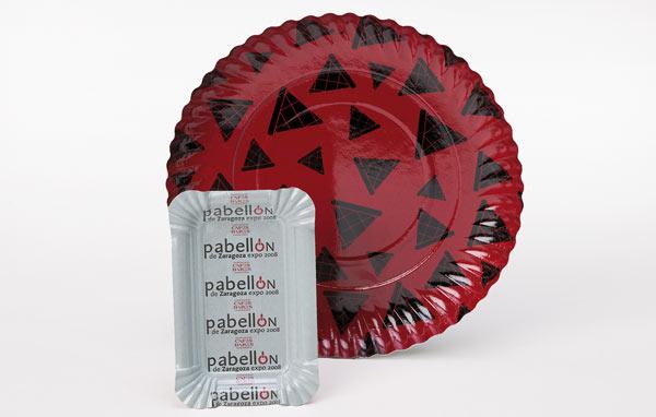 Plateaux et assiettes avec polyester imprimé
