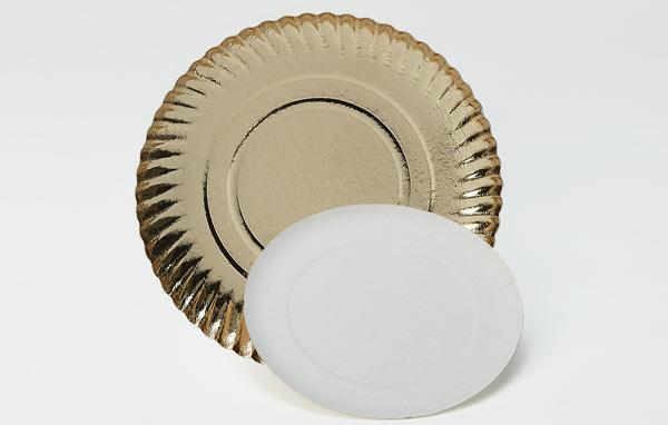 Assiettes neutres et imprimées