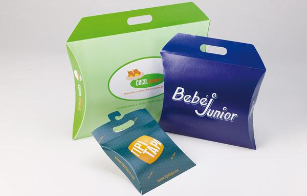 Embalagens de cartão para comércio