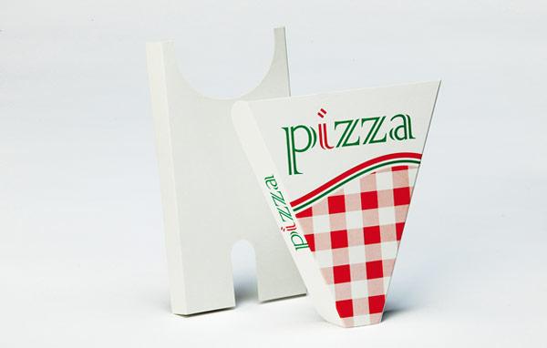 Fatias e porta-pizza