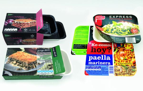 Capas, tampas e caixa para bandejas de alimentos